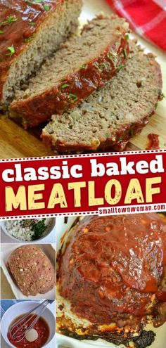 The ultimate easy dinner recipe for the family! This is the best meatloaf recipe made with ground beef, onions, garlic, Italian spices, and coated with a sweet tomato glaze. Save this easy meal for later! Classic Meatloaf Recipe, Good Meatloaf Recipe, Best Meatloaf, Meatloaf Recipes, Onion Recipes, Meat Recipes, Cooking Recipes, Yummy Recipes
