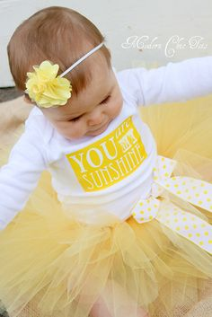 """You are My Sunshine"" Birthday Tutu Set/Outfit. I NEED THIS!!!!!  This is my song for my boys!!!  Now it will be for my little girl!!!"