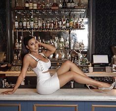 Metallic Pumps, Girl Fashion, White Dress, Bodycon Dress, Photo And Video, Videos, Instagram Caption, Tops, Dresses