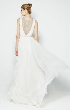 Millie bridal gown by Nicole Miller, white with embellished back