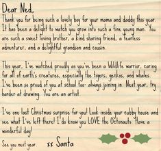 This printable letter from santa reminds children to appreciate the this printable letter from santa reminds children to appreciate the love of family at christmastime not just gifts free to download and print pinterest spiritdancerdesigns Gallery