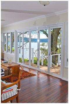 White Bi-fold Door by Wideline. www.wideline.com.au