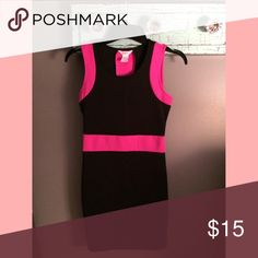 Bodycon black/pink dress/XS/no trades Super chic black//pink dress/XS//pair with a blazer for work//offers welcome//no trades🚫 Dresses Mini