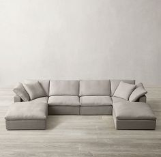 √The Ugly Side of The Most Comfortable Cloud Modular Sofa - grhaku Comfy Sectional, Living Room Sectional, U Shaped Couch Living Room, Living Room Seating, Living Room Designs, Living Room Decor, Living Spaces, Small Living, Plywood Furniture