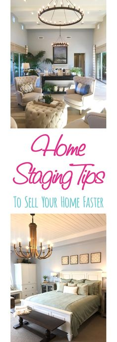 11 Home Staging Ideas to Sell Your Home Faster!  Easy tips and tricks to stage your living room, kitchen, and bathrooms used by realtors and house stagers!