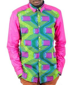 African print shirts, Mens African print shirts, African-wear for Men African Attire For Men, African Wear, African Inspired Fashion, African Fashion, Printed Trousers, Printed Shirts, African Print Shirt, Shirt Style, Menswear
