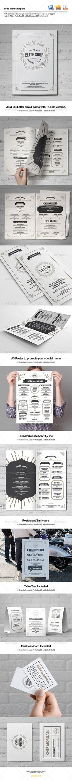 Food Menu Template http://graphicriver.net/item/food-menu-template/8106667?ref=broluthfi