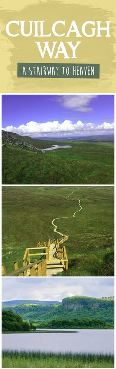 If you're looking for a walk in the wilderness, the Cuilcagh Way in County Fermanagh is a mountain trail through blanket bog beauty, built just for you. Enjoy six hours of stunning scenery beneath the quiet gaze of the Cuilcagh mountains, passing quiet farmlands, a Bronze Age burial cairn, and Ice Age Lough Atona.