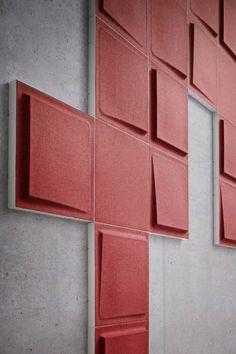 Wandplatten in rot in 3d Optik