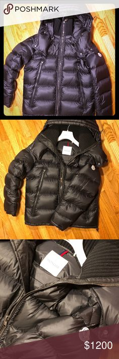Moncler Pascal This black Pascal jacket is an update of the iconic 80s men coat from the Moncier archives. Contemporary fit and cosmopolitan lifestyle. Suitable for cold winter, water repellent and warm. Moncler Jackets & Coats Puffers