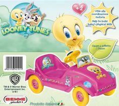Offerta a € 51,60 automobilina Looney Tunes FXBIEMME GIOCHI. Auto per bambini a pedali. Claxon a soffietto. Puoi trovarla suhttp://qpoint.eu/prodotto/smile-auto-looney-tunes-fx/
