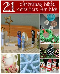 A variety of Christmas Bible Activities that will be sure to get your children in the mood for the holidays! #learning #activities #Christmas  AND a Christmas Inspired Linky Party!! Check out all the fun ideas there :)