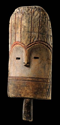 Africa | Mask from the Mbole people of DR Congo | Wood, pigment