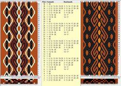 Two opposite threadings, same movements . 28 tarjetas, 4 / 3 colores, repite cada 8 movimientos // sed_617c & sed_617d diseñado en GTT༺❁