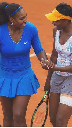 5/29/16 <3 #VeeRena Is #RolandGarros R3 Bound After Finishing R2 Same Day! Serena & Venus Williams def. Diatchenko/Voskoboeva 7-6, 4-6, 6-0. Pic via  All Things Serena 