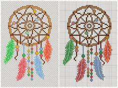 Ловец снов. Схема вышивки крестом от Amanda Gregory