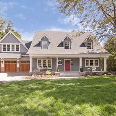 cape house with exterior stone | Edina Cape Cod Inspired Custom Designed Home