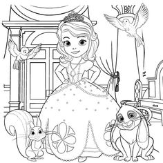 Sofia the First Coloring Page | Printables | Spoonful