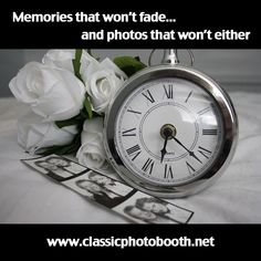 Rent a photo booth from classicphotobooth.net for your wedding. Photos that wont fade and a free custom logo.
