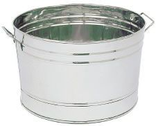 Round Stainless Steel Tub instead of galvanized if we go that route for a utility sink, last longer