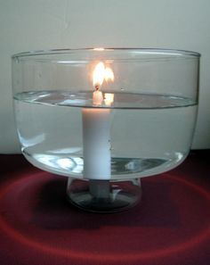 Help your fifth grader execute this experiment involving a lit candle (submerged in water!) to show him the wonders of heat energy transference.