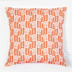 Swan throw pillow  coral reef by mengseldesign on Etsy