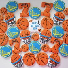 Golden State Warrior Cookies/Baseketball cookies
