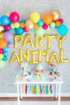 Party Animal Letter Balloons - Party Animal Party Decor - Circus Party Decor - Zoo Party Decor Backdrop - Carnival Party Decor Backdrop - - You are in the right place Zoo Birthday, Animal Birthday, First Birthday Parties, Elegant Birthday Party, Girls Birthday Party Themes, Birthday Ideas, Circus Party Decorations, Letter Balloons, Animal Balloons