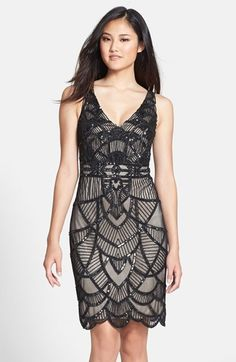 (Only sizes 4 and 8 available) JS Collections Beaded Scalloped Sheath Dress available at #Nordstrom