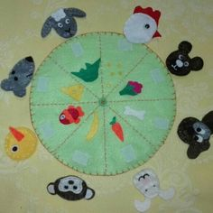 Ready to go! Our matching game by felt!