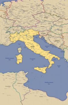 Behance :: Editing Italy Expressive Map Wall Map