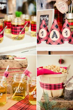 Rustic & Burly Lumberjack Bash {Triplet First Birthday Party} // Hostess with the Mostess® First Birthday Party Decorations, First Birthday Parties, First Birthdays, Birthday Ideas, Fall First Birthday, Baby Birthday, Birthday Cake, Lumberjack Birthday Party, Baby Party