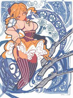 Mami Tomoe, Art Nouveau fanart   Puella Magi Madoka Magica