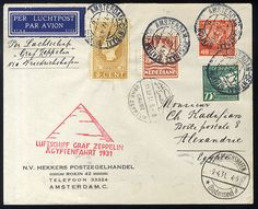 1931 Egypt Flight card from Amsterdam to Egypt, red cachet, v.f., with Cairo arrival    Dealer  Cherrystone Auction    Auction  Estimate price:  200.00US$