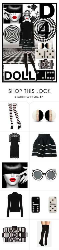"""""""D 4 Doll"""" by morag667 ❤ liked on Polyvore featuring L.K.Bennett, FAUSTO PUGLISI, Markus Lupfer, Misha Nonoo, Marc Jacobs and Chanel"""