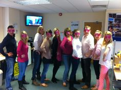 Wear it pink day sweeps the ITPR offices once more! This year we bring you...  The ITPR Pink Super Hero League!