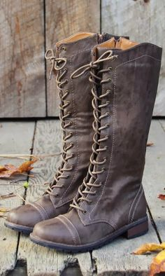 Charlie Brown Leather Lace Up Boots