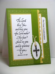 Sweet Confirmation by atsamom - Cards and Paper Crafts at Splitcoaststampers