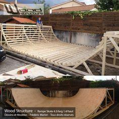 Bmx, Skateboard, Skate Ramp, Wood Structure, Roller, Outdoor Furniture, Outdoor Decor, Sun Lounger, Backyard