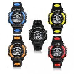 Montre Quartz-Kids Fashion Sport Watch  avec un excellent rapport qualité/prix  Fonctions: Stopwatch timing,Shock resistant,Alarme,Calendrier,..
