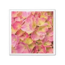 Pink Hydrangeas-PAPER PARTY NAPKINS #pink #hydrangea #napkins #zazzle #party