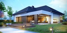 Decorating Your American Bungalow Style House Modern Style Homes, Modern House Design, Bungalow Style House, One Storey House, Facade House, Bungalows, Home Fashion, Modern Architecture, House Plans
