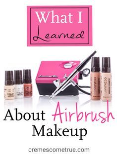 Tips and tricks for airbrush makeup.