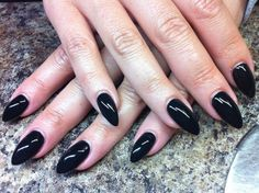 Find images and videos about nail art, gel nails and angela beer on We Heart It - the app to get lost in what you love. Vampire Nails, Black Almond Nails, Black Stiletto Nails, Gothic Nails, Claw Nails, Nail Art, Super Nails, Trendy Nails, Diy Nails