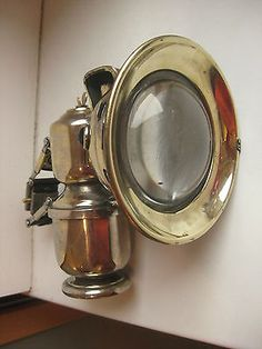 1910 German Abel Eagle Acetylene Carbide Antique Bicycle Lamp ...