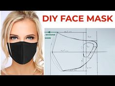 Handmade medical face mask☆Diy Covid Face Mask - New ideas Easy Face Masks, Homemade Face Masks, Diy Face Mask, Mouth Mask Fashion, Diy Kleidung, Do It Yourself Fashion, Mask Template, Best Masks, Diy Mask