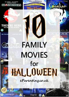 10 Halloween movie night ideas that kids will love and none of them are too scary, so they are perfect for all the family. The list includes top movies like Ghostbusters and Casper as well as newer favourites like The Corpse Bride and Hotel Transylvania.