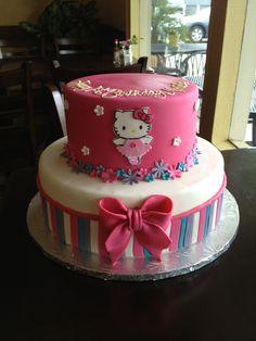 Hello Kitty ballerina birthday cake www.cafeattila.com