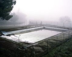 A huge abandoned pool
