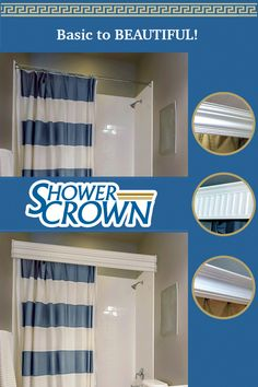 A ShowerCrown will change the personality of your bath, dramatically. Fifteen minute installation with only a screwdriver. Home Improvement Grants, Home Improvement Contractors, Bathroom Wall Decor, Small Bathroom, Bathroom Ideas, Home Renovation, Home Remodeling, Radios, Software